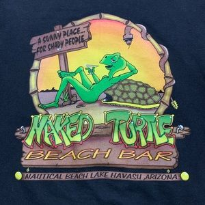 Men's Naked Turtle zip up Sweatshirt.